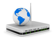 Router on white background Royalty Free Stock Photography