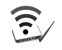 Router with wifi symbol Royalty Free Stock Image