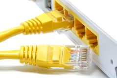 Router Wireless  LAN White background Royalty Free Stock Images
