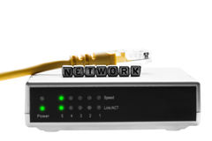 Router with wires closeup Stock Photography