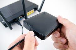 Router z pomocniczego magazynu dyskiem Zdjęcie Stock