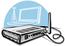 routera radio Zdjęcia Stock