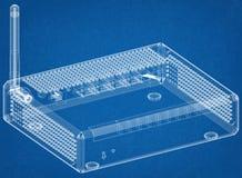Routerarchitect Blueprint royalty-vrije stock foto's