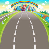 Routes à la ville. illustration libre de droits
