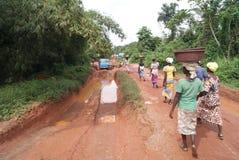 Routes africaines photographie stock libre de droits