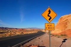 Routes d'enroulement Image stock