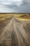 Routes dans le désert images libres de droits