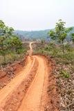 Routes dans les zones rurales de pays en développement photo libre de droits
