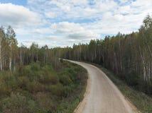 Routes de campagne en Russie image stock