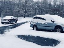 Routes de chute de neige Photographie stock libre de droits