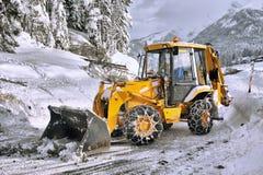 Routes de clairière de neige Image libre de droits