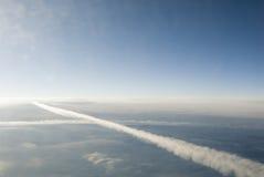 Routes de croisement dans le ciel Photo libre de droits