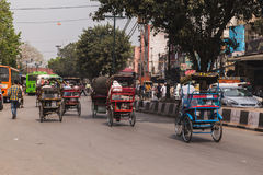 Routes de Delhi, Inde Photographie stock libre de droits
