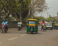 Routes de Delhi, Inde Images stock