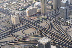 Routes de Dubaï photos libres de droits