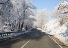 Routes de l'hiver Photographie stock libre de droits