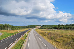 Routes de la Finlande Images stock