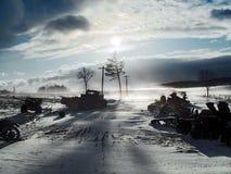 Routes de la guerre Photo libre de droits