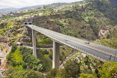 Routes de route sur l'île de la Madère, Portugal Images libres de droits