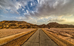 Routes de Timna Photos stock