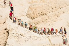 Routes at the Dead Sea Royalty Free Stock Photo