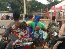 routes du Bénin Images stock