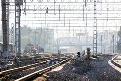 Routes ferroviaires industrielles Photo libre de droits