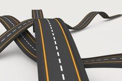 Routes inégales Photographie stock libre de droits