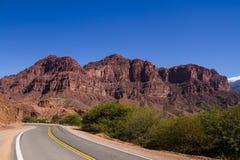 Routes through the mountains Royalty Free Stock Image
