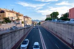 Routes peu communes à Cannes photo stock