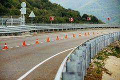 Routes serpentines de montagne Images stock