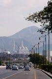 Routes urbaines à grand trafic de Muscat Photographie stock libre de droits
