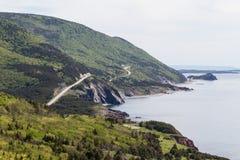 Routes venteuses sur la traînée de cabot Image libre de droits