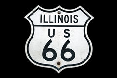 routetecken för 66 illinois Royaltyfri Bild