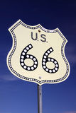 routetecken för 66 väg Arkivbild