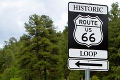 routetecken för 66 väg Royaltyfria Bilder