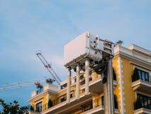 Routeur de wifi de ville L'émetteur de rue du signal d'Internet Images stock
