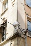 Routeur gratuit de Wi-Fi dans l'environnement de ville Photos libres de droits