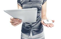 Routeur mobile avec le PC de comprimé 3G, 4G ou LTE Photo stock