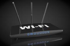 routeur moderne de 3d WiFi Photographie stock