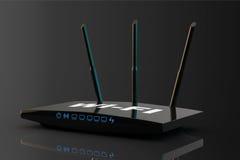 routeur moderne de 3d WiFi Photographie stock libre de droits