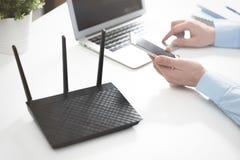 Routeur ou point d'accès sans fil image libre de droits
