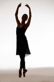 Routine. Girl in classic ballet posture Stock Images