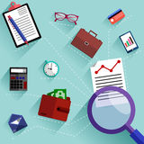Routine business objects concept royalty free illustration