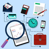 Routine business objects concept Stock Image