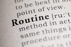 Routine stock image