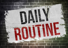 Daily routine - poster concept Stock Image