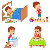 Routine quotidiana dei bambini Immagini Stock Libere da Diritti