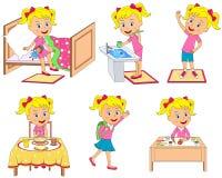 Routine quotidiana dei bambini Fotografia Stock