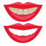 Routine quotidiana di igiene dei denti, cura orale, pulizia dentaria Immagine Stock